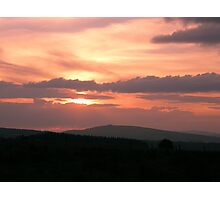 Strong red sunset Photographic Print