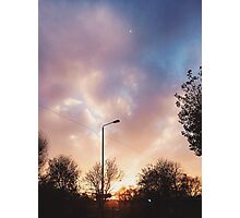 Dreamy Cloudy Winter Sunset Photographic Print