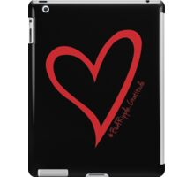 #BeARipple...Gratitude Red Heart on Black iPad Case/Skin