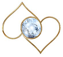 Love centered hearts, diamond heart Photographic Print