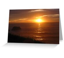 Gold Sky Greeting Card