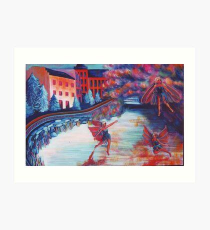 Fairies on The Lake Art Print