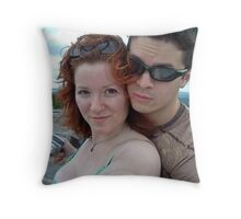 Portrait of the Artists on the Edge Throw Pillow