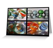 Marbles Collage Greeting Card