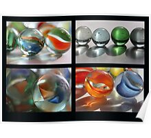 Marbles Collage Poster