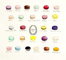 Laduree Macarons Flavor Menu by sweetprovidence