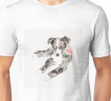 Puppy with Floral Collar Unisex T-Shirt