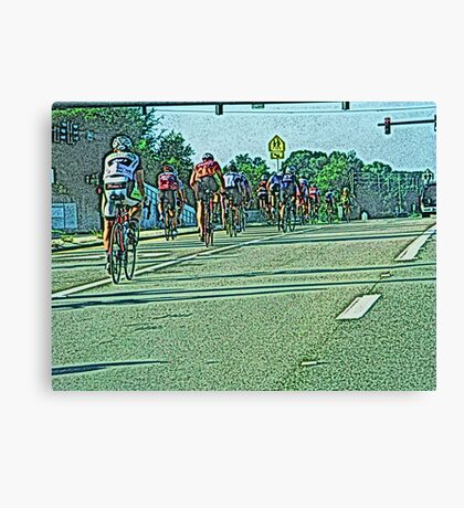 The Bicycle Race Canvas Print