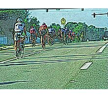 The Bicycle Race Photographic Print