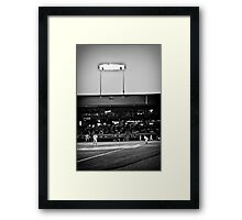 And Here Comes the Pitch Framed Print