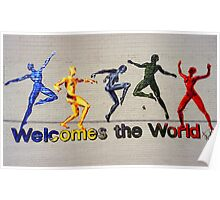 """Welcomes the World"" Mural Poster"