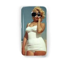 Marilyn Monroe White Swimsuit Samsung Galaxy Case/Skin