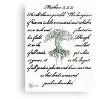 Matthew 13: 31, 32 Mustard Seed Metal Print