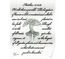 Matthew 13: 31, 32 Mustard Seed Poster