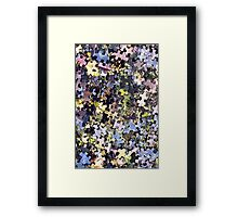 Puzzle Pieces Abstract Framed Print