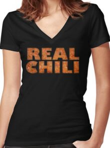 Actual Chili Women's Fitted V-Neck T-Shirt
