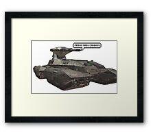 firing main cannon Framed Print