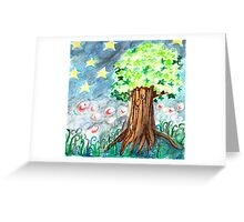 Starlight and Star Tree Greeting Card