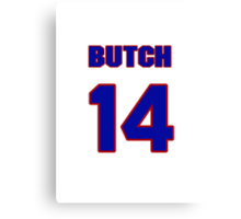 National baseball player Butch Alberts jersey 14 Canvas Print