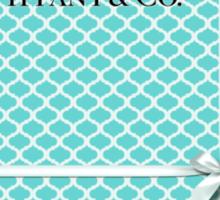 Tiffany & Co. Logo - Quatrefoil Pattern &  Ribbon Sticker