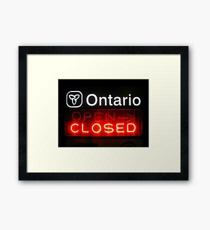 Ontario Closed Framed Print