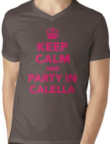 Keep calm and party in Calella Mens V-Neck T-Shirt