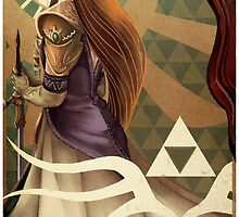 The High Priestess - Zelda Tarot by Thomas Randby