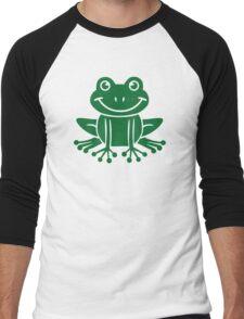 Green frog Men's Baseball ¾ T-Shirt