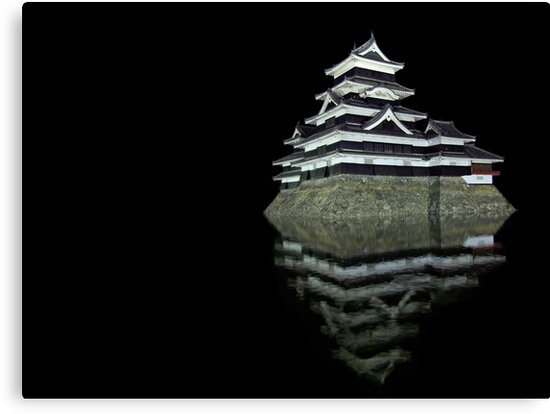 Matsumoto castle by night by Peter Zentjens