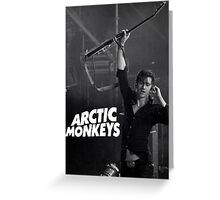 alex turner with guitar Greeting Card