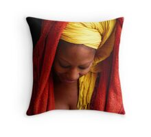 Maxime in Deep Thought Throw Pillow