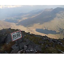 Carrauntoohil summit view Photographic Print