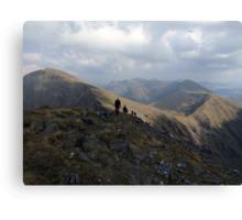 Macgillycuddy Reeks peaks summer view Canvas Print