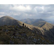 Macgillycuddy Reeks peaks summer view Photographic Print