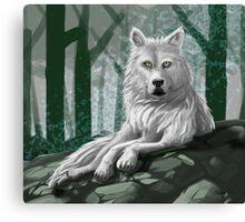 Reclining Wolf Canvas Print