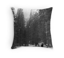 It can get misty sometimes Throw Pillow