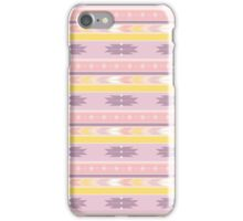South West Diamond Stripes Pink Yellow Mauve iPhone Case/Skin