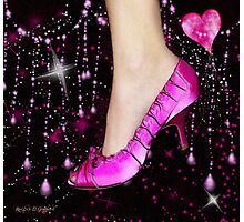 I Love My Pink Shoes!! (Views: 10601 :o) Photographic Print