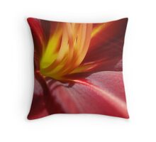 inflamed heart Throw Pillow