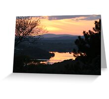 sunset over west lee vallee Greeting Card