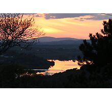 sunset over west lee vallee Photographic Print