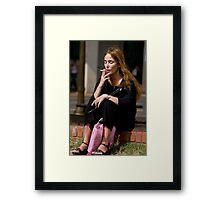 The Smoker Framed Print