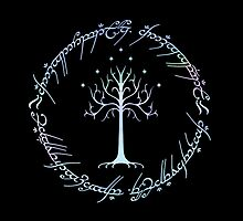 Tree of Gondor and One Ring Inscription, LOTR, Tolkien by NerdGirlTees