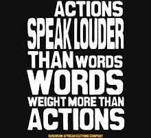 Actions speak louder than words Mens V-Neck T-Shirt