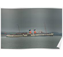 Waverley, steaming around Shuna Poster