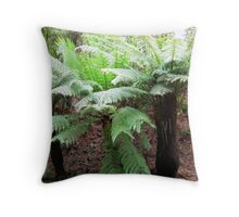 Tree ferns Throw Pillow