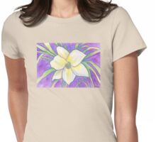 Flagler Beach Daylilly Womens Fitted T-Shirt