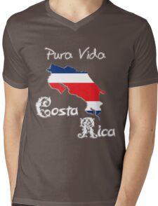 Costa Rica, Pura Vida (dark) Mens V-Neck T-Shirt