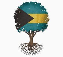 Tree of Life with Bahamas Flag T-Shirt