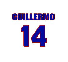 National baseball player Guillermo Quiroz jersey 14 Photographic Print